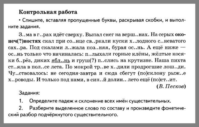 Русский язык 5 класс Разумовская. Контрольная работа 12