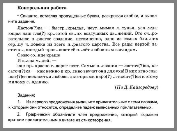 Русский язык 5 класс Разумовская. Контрольная работа 13