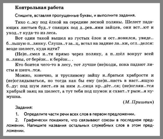 Русский язык 5 класс Разумовская. Контрольная работа 4