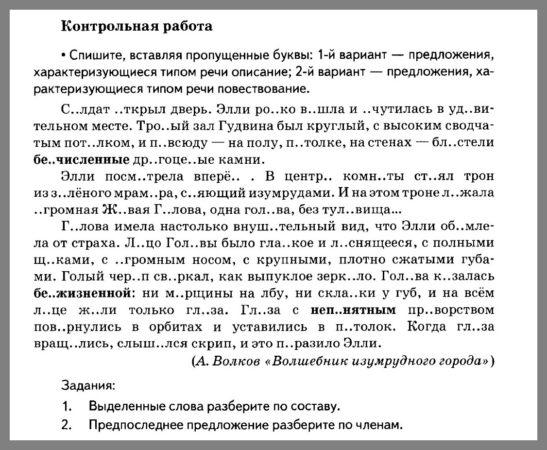 Русский язык 5 класс Разумовская. Контрольная работа 9