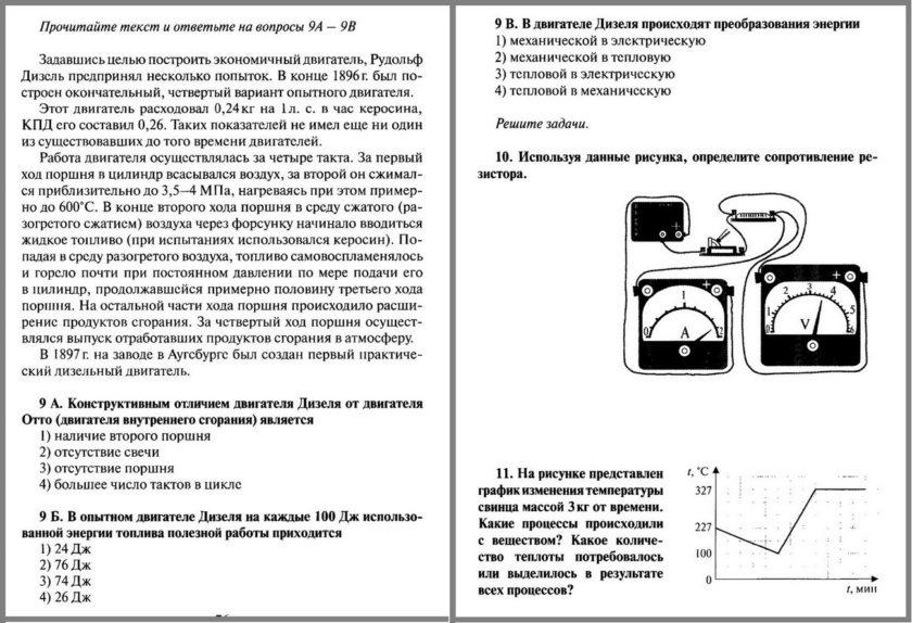 Физика 8 Итоговая контрольная