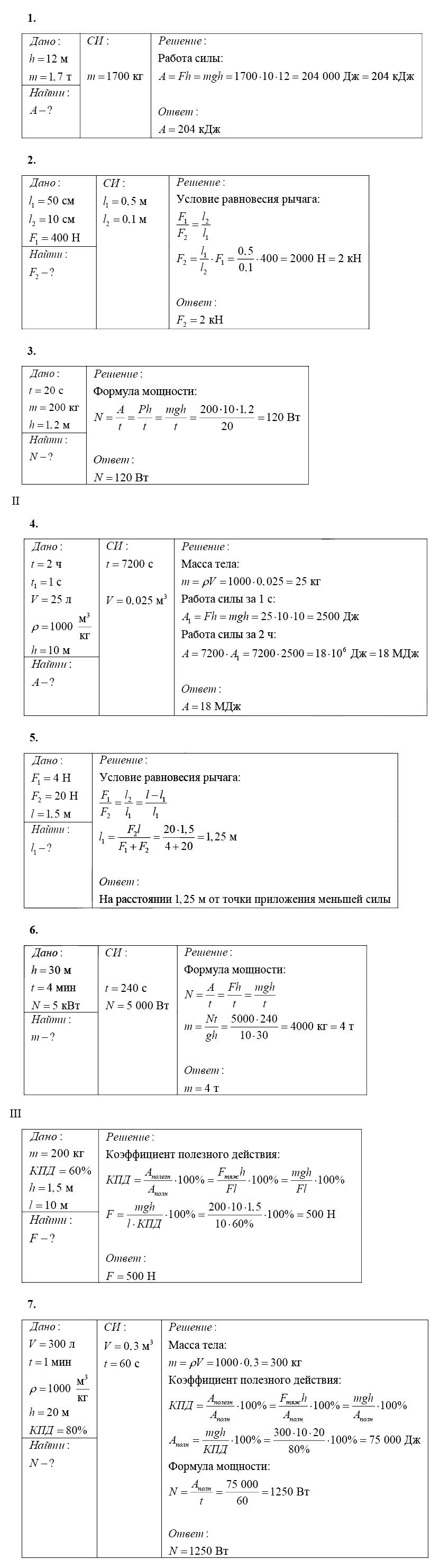 Физика 7 Марон КР-4 В2